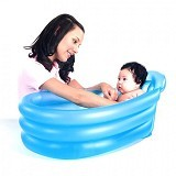 BESTWAY Inflatable Safety Baby Tub [51113-B] - Blue Oval - Inflatable Bouncers
