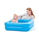 BESTWAY Inflatable Safety Baby Tub [51116-B] - Blue Square - Inflatable Bouncers