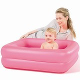 BESTWAY Inflatable Safety Baby Tub [51116-P] - Pink Square - Inflatable Bouncers
