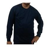 BKP Kaos Polos Lengan Panjang Size 3L - Biru Navy - Kaos Pria