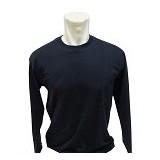BKP Kaos Polos Lengan Panjang Size L - Hitam - Kaos Pria