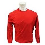 BKP Kaos Polos Lengan Panjang Size L - Merah - Kaos Pria
