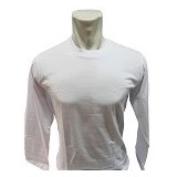 BKP Kaos Polos Lengan Panjang Size XL - Putih - Kaos Pria