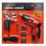 BLACK & DECKER Cordless Screwdriver [KC4815-B1] - Obeng Elektrik