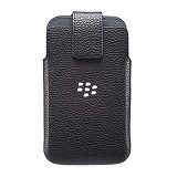 BLACKBERRY Classic Leather Swivel Holster Cover Case - Black - Sarung Handphone / Pouch
