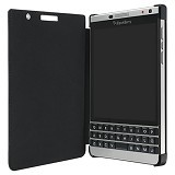BLACKBERRY Passport Silver Edition Leather Flip Case - Black - Sarung Handphone / Pouch