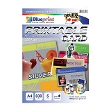 BLUEPRINT Printable Card Silver A4 [BP-PCA4830S] (Merchant) - Kertas Foto / Photo Paper
