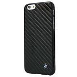BMW Real Carbon Fiber Case for Apple iPhone 6 Plus - Black (Merchant) - Casing Handphone / Case