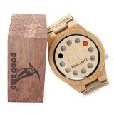 BOBO BIRD Jam Tangan Kayu Original Quartz - Saddle Brown (Merchant) - Jam Tangan Pria Fashion