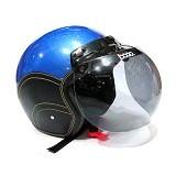 BOGO helm retro biru - Helm Motor Half Face