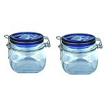 BORMIOLI Fido Blue Top Jar 50Cl Set of 2 [149510 2P] - Toples