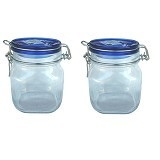 BORMIOLI Fido Blue Top Jar 75Cl Set of 2 [149520 2P] - Toples