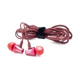 BRAINWAVZ Jives Earphones with Microphone Android [CSI-BZSK08RE] - Red - Earphone Ear Monitor / Iem