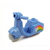 BRICK FORGE Scooter Rainbow - Medium Blue - Model Motorcycle