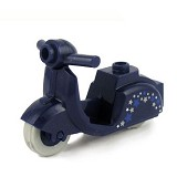BRICK FORGE Scooter Stars - Dark Blue - Model Motorcycle