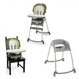 BRIGHT STARS InGenuity Trio 3 in1 Deluxe High Chair Marlo [60352] - Baby Highchair and Booster Seat
