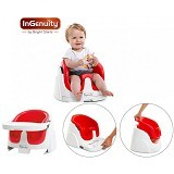 BRIGHT STARS Ingenuity Baby Base 2 in 1 [60357-red] - Red - Baby Highchair and Booster Seat