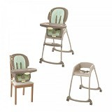 BRIGHT STARS Ingenuity Trio 3 in1 Deluxe High Chair Whimsical Wonder [60190] - Baby Highchair and Booster Seat