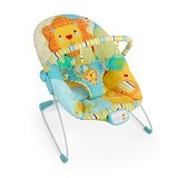 BRIGHT STARS Jubilant Jungle Bouncer Music & Vibrate [60508] - Baby Highchair and Booster Seat