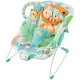 BRIGHT STARS Playful Pals Bouncer Music & Vibrate [60139] - Baby Highchair and Booster Seat