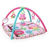BRIGHT STARS Pretty In Pink Activity Gym Charming Chirps [52170] - Gym and Playmate for Baby / Kids