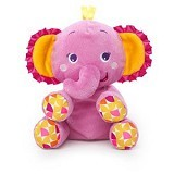 BRIGHT STARS Snuggle and Shake Pals Elephant [52148] - Pink - Boneka Binatang