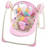 BRIGHT STARS Taggies Portable Swing Cozy Posies [60257] - Baby Highchair and Booster Seat