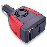 BRINGME GADGET Power Car inverter 150W 220V AC EU Plug + 5V USB Charger Mobil Compact (Merchant) - Car Kit / Charger