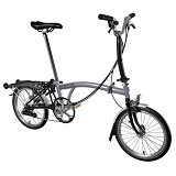 BROMPTON M6R - Grey/Black (Merchant) - Sepeda Lipat / Folding Bike