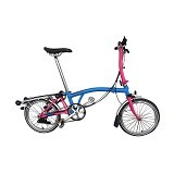 BROMPTON S6R - Artic Blue Hot Pink (Merchant) - Sepeda Lipat / Folding Bike