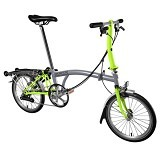 BROMPTON S6R - Grey/Lime Green (Merchant) - Sepeda Lipat / Folding Bike
