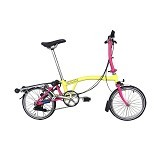 BROMPTON S6R - Yellow Hot Pink (Merchant) - Sepeda Lipat / Folding Bike
