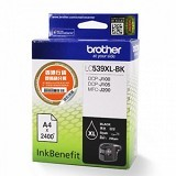 BROTHER Black Ink Cartridge [LC-539XL BK] - Tinta Printer Brother