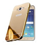 BUMPER CASE Mirror Sliding Case Samsung Galaxy A8 - Gold (Merchant) - Casing Handphone / Case