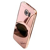 BUMPER CASE Mirror Sliding Case Samsung Galaxy Note Edge - Rose Gold (Merchant) - Casing Handphone / Case