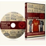 BeeDesign Paket DVD Design Kumpulan Koleksi Desain Kaos Distro Muslim Vol 1 (Merchant) - Software Illustration / Design Licensing