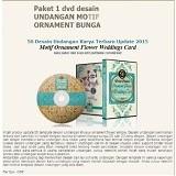 BeeDesign Undangan Motif Ornament Bunga (Merchant) - Software Illustration / Design Licensing