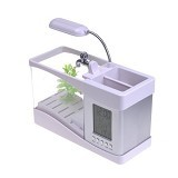 CAKRA NUSANTARA USB Aquarium Desktop With Digital Clock - White (Merchant) - Akuarium & Wadah Ikan