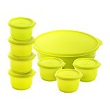 CALISTA Oedo Circle Container - Yellow - Wadah Makanan