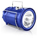 CALLIASTORE Lampu Camping Mini Solar dan Senter 2 In 1 - Blue (Merchant) - Lampu Emergency