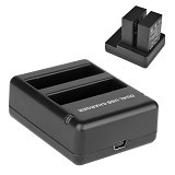 CAMEACS USB Dual Battery Travel Charger for GoPro Hero 4 - Camera Power Adapter and Charger