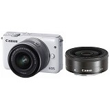 CANON EOS M10 Double Kit1 - White - Camera Mirrorless