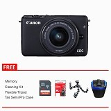 CANON EOS M10 Kit1 Package - Black (Merchant) - Camera Mirrorless