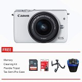 CANON EOS M10 Kit1 Package - White (Merchant) - Camera Mirrorless