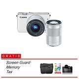 CANON EOS M10 Kit1 Paket Hemat - White (Merchant) - Camera Mirrorless