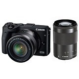 CANON EOS M3 Double Kit - Black (Merchant) - Camera Mirrorless
