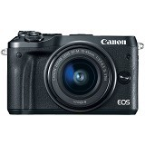 CANON EOS M6 Kit1- Black - Camera Mirrorless