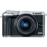 CANON EOS M6 Kit1- Silver - Camera Mirrorless