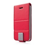 CAPDASE Folder Case iPhone 5/5s Sider Upper Polka [FCIH5-UP9G] - Red - Casing Handphone / Case
