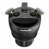 CAPDASE PowerCup T2 Car Cup Holder Charger [CA00-C101] - Black - Car Kit / Charger
